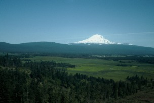 Mt. Hood; my first view of this stunning volcano